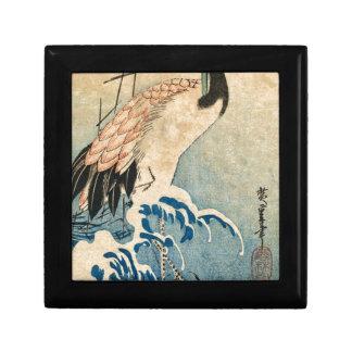 Cool japanese vintage ukiyo-e crane bird scroll gift box