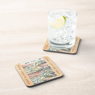 Cool japanese vintage ukiyo-e mountain field beverage coaster