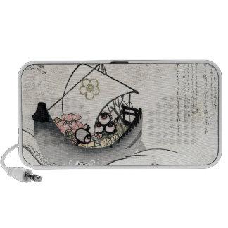 Cool japanese vintage ukiyo-e myth legend boat art laptop speaker