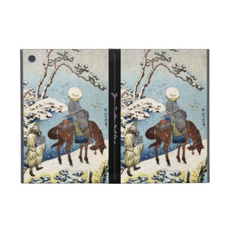 Cool japanese vintage ukiyo-e raider winter scene case for iPad mini