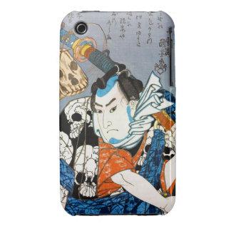 Cool japanese warrior hero samurai skull art iPhone 3 cover