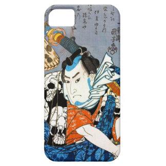 Cool japanese warrior hero samurai skull art iPhone 5 cover