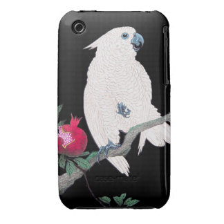 Cool japanese white cockatoo parrot tropical bird iPhone 3 case
