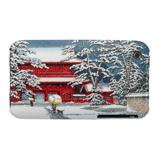 Cool japanese winter temple shrine kyoto scenery iPhone 3 Case-Mate cases