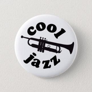 cool jazz print silhouette trumpet 6 cm round badge