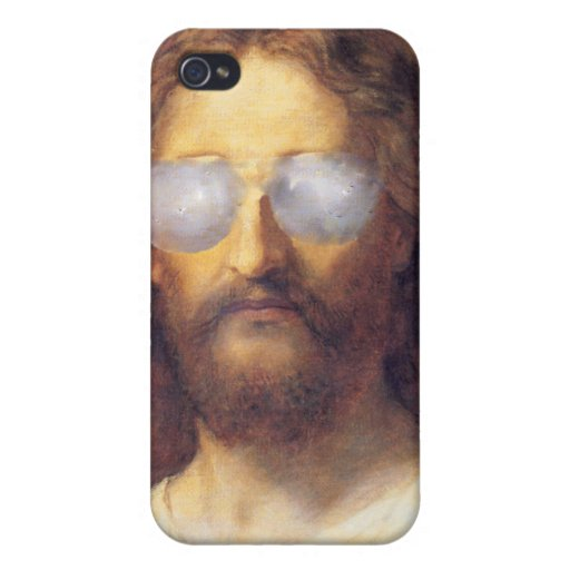 Cool Jesus Street Art Iphone case iPhone 4/4S Covers