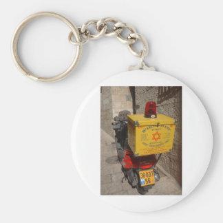 Cool Jewish Ambulance Motorcycle! Basic Round Button Key Ring