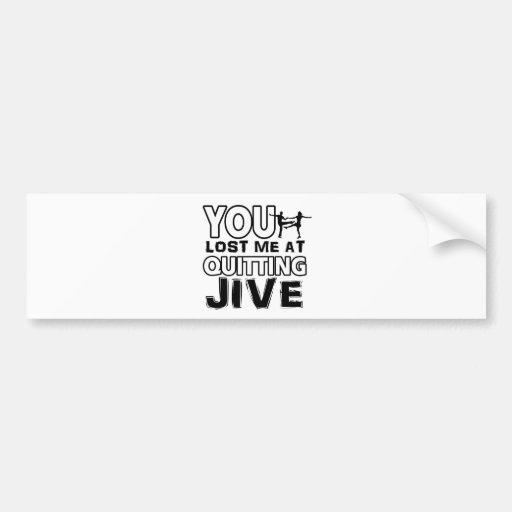 Cool Jive dance designs Bumper Sticker