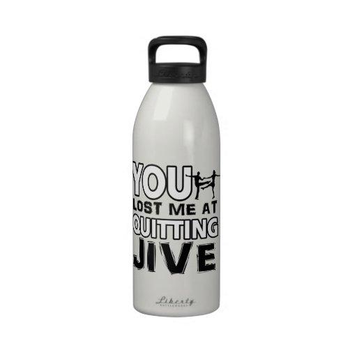 Cool Jive dance designs Reusable Water Bottle