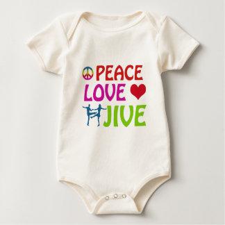 Cool Jive dancing designs Baby Bodysuit