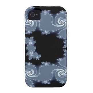 Cool Julia Fractal Steel Grey Art iPhone 4 Case
