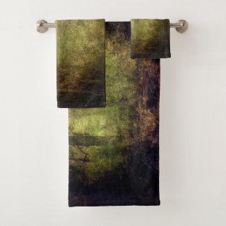 Cool Jungle theme trees texture background design Bath Towel Set