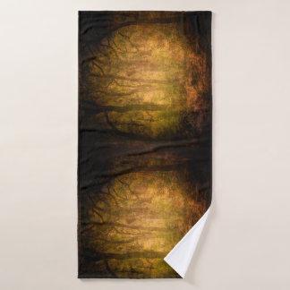 Cool Jungle trees theme texture background design Bath Towel
