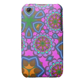 Cool Kaleidoscope Flowers iPhone 3 Case-Mate Cases