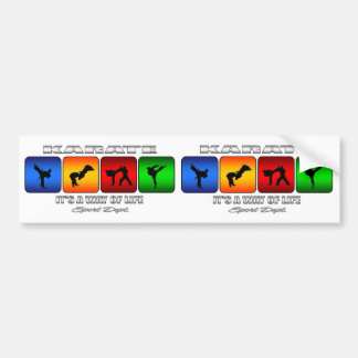 Cool Karate It Is A Way Of Life Bumper Sticker