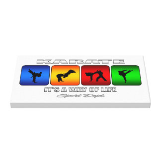 Cool Karate It Is A Way Of Life Canvas Print