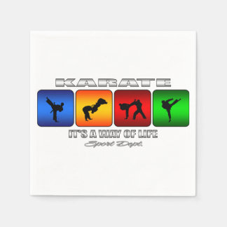 Cool Karate It Is A Way Of Life Disposable Napkin
