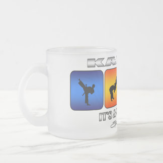 Cool Karate It Is A Way Of Life Frosted Glass Coffee Mug