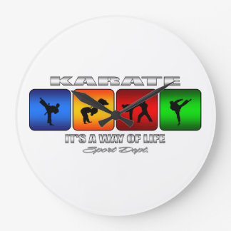 Cool Karate It Is A Way Of Life Large Clock