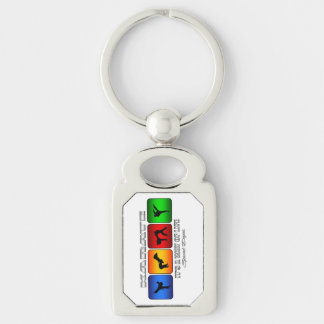 Cool Karate It Is A Way Of Life Silver-Colored Rectangle Key Ring