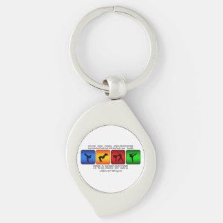 Cool Karate It Is A Way Of Life Silver-Colored Swirl Key Ring