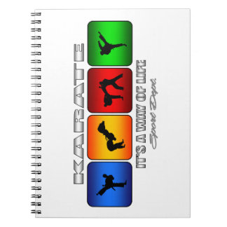 Cool Karate It Is A Way Of Life Spiral Notebook
