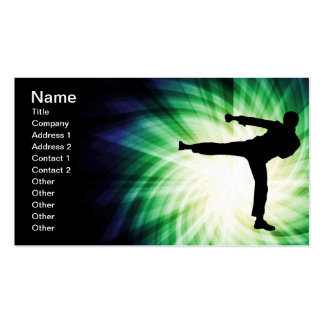 Cool Karate Kick Pack Of Standard Business Cards