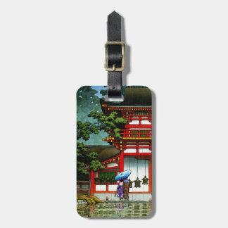Cool Kasuga Shrine Nara Hasui Kawase shin hanga Luggage Tag