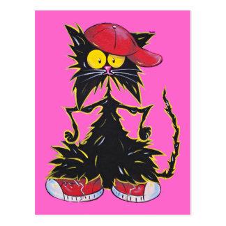 Cool Kat Hip Hop Postcard
