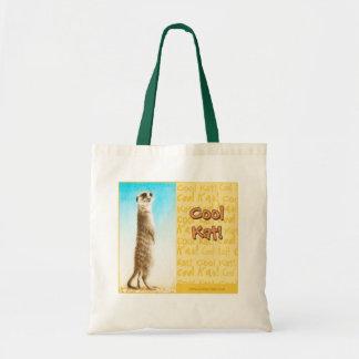 """""""Cool Kat"""" Meerkat Tote Bag"""