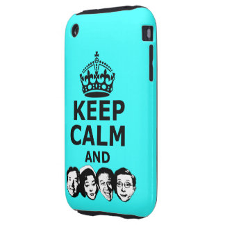 Cool keep calm and carry on iPhone 3 tough cases