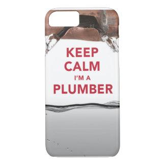 "Cool ""Keep Calm I'm a Plumber"" iPhone 7 case"