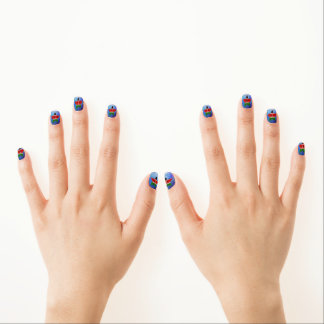 Cool Kenya Flag Star Minx Nail Art
