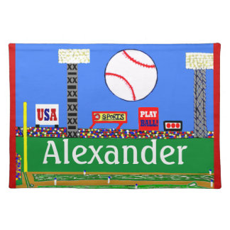 Cool Kids Baseball Placemat Made in America Gift
