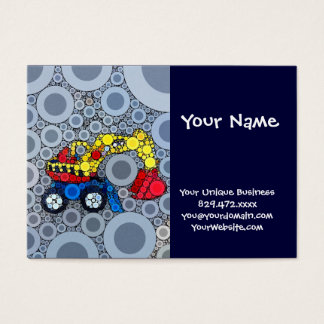 Cool Kids Construction Truck Excavator Digger Business Card