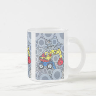 Cool Kids Construction Truck Excavator Digger Frosted Glass Mug