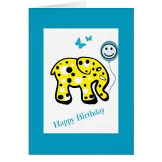 Cool Kids Elephant Birthday Card