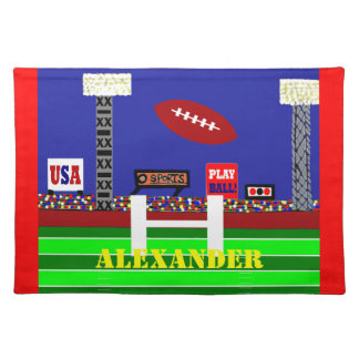Cool Kids Football Placemat Made in America Gift Cloth Place Mat