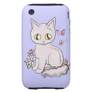 Cool Kitty Cat Blue BG Tough iPhone 3 Case