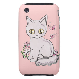 Cool Kitty Cat Pink Tough iPhone 3 Case
