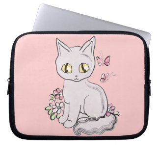Cool Kitty Cat Pink Computer Sleeves