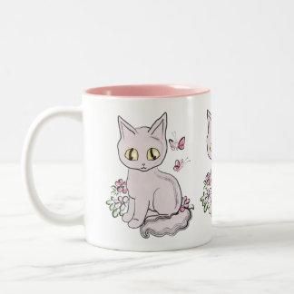 Cool Kitty Cat Pink Coffee Mug