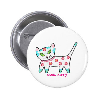 Cool Kitty For Kids 6 Cm Round Badge