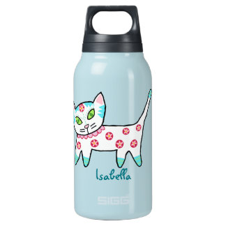 Cool Kitty Kids 0.3L Insulated SIGG Thermos Water Bottle