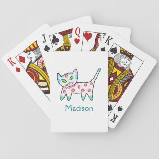 Cool Kitty Kids Playing Cards
