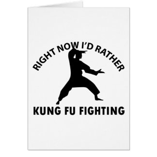 cool Kung fu  designs Card