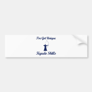 cool kyudo  designs bumper sticker