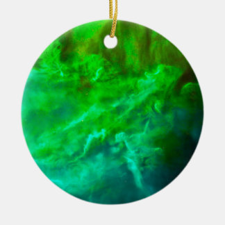 Cool Lagoon Nebula Ceramic Ornament