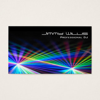 Cool Laser Light Club - DJ Business Card