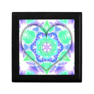 Cool Lavender Mint Green 3d Heart Shaped Patterns Gift Box